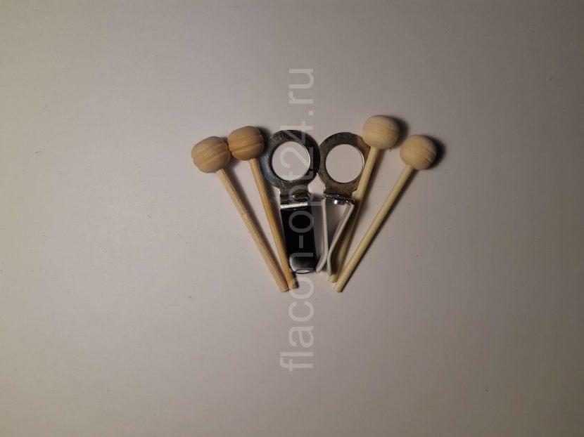 Крепления флакона на дефлектор с палочками(белые) (упаковка 20 штук)